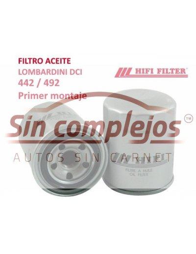 FILTRO DE ACEITE MOTOR LOMBARDINI DCI. 1010476.  ORIGINAL