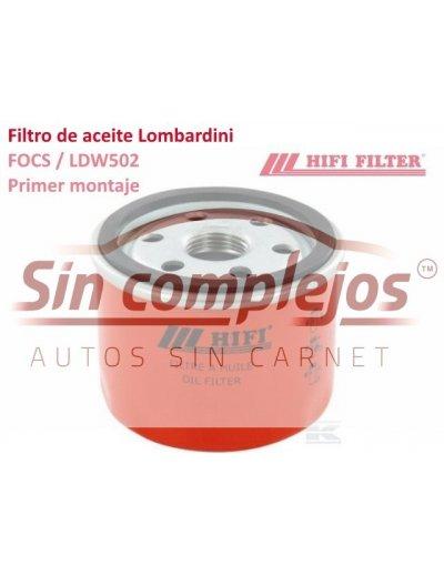 FILTRO DE ACEITE MOTOR LOMBARDINI LDW 502. 0640066. HI FI