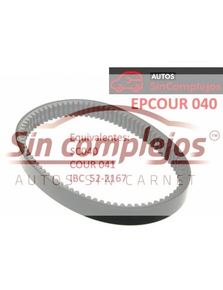 Largo: 836 mm. Ancho: 31 mm. EPCOUR 040.