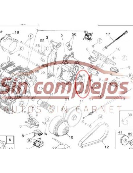 SOPORTE MOTOR Y ALTERNADOR MICROCAR / LIGIER. 0012979