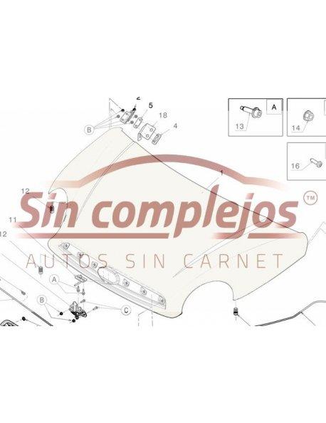 CAPO MGO4/5 DUE3/5. BLANCO NACARADO. Original