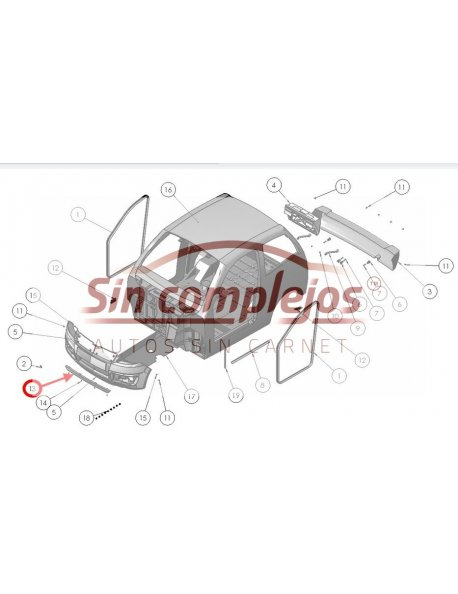 DEFLECTOR DELANTERO LIGIER 0081786