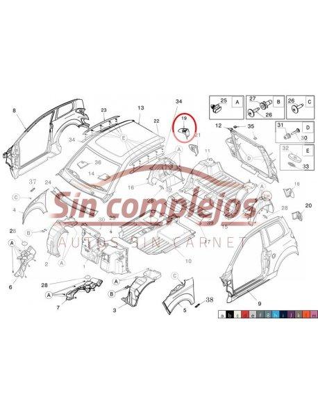 EMBELLECEDOR TRASERO DERECHO NEGRO. 1405734