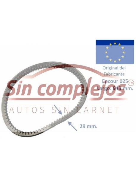 Largo: 943 mm. Ancho: 29 mm. EPCOUR 025.