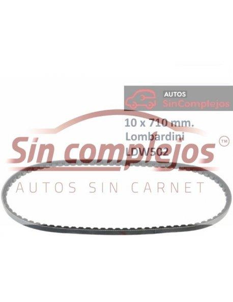 CORREA DE ALTERNADOR 10 x 710mm.